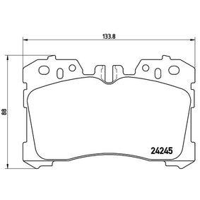 Bremsbelagsatz, Scheibenbremse Breite: 133,8mm, Höhe: 88mm, Dicke/Stärke: 18,5mm mit OEM-Nummer 04465-0W110