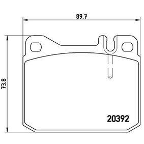 Bremsbelagsatz, Scheibenbremse Art. Nr. P 85 007 120,00€