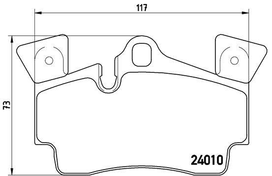 Bremsbeläge P 85 088 BREMBO 7908D978 in Original Qualität