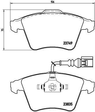 Bremsbeläge P 85 090 BREMBO 8287D1174 in Original Qualität