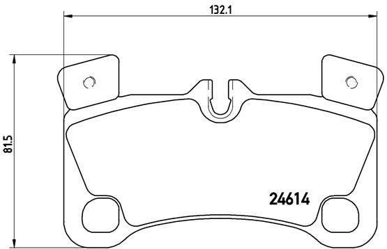 Bremsbeläge P 85 103 BREMBO 8460D1350 in Original Qualität