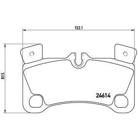 Bremsbelagsatz, Scheibenbremse Breite: 132,1mm, Höhe: 81,5mm, Dicke/Stärke: 16,6mm mit OEM-Nummer 955 352 939 61