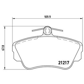 Brake Pad Set, disc brake Width: 109,9mm, Height: 67,8mm, Thickness: 18,1mm with OEM Number 3 344 787