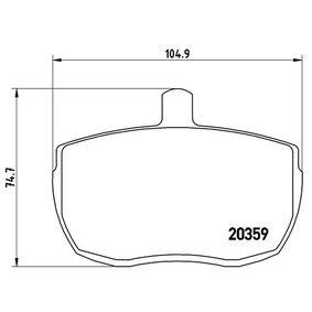Bremsbelagsatz, Scheibenbremse Art. Nr. P A6 001 120,00€