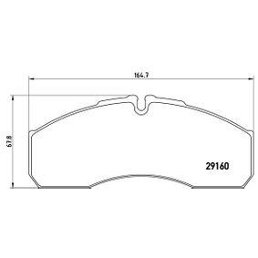 Bremsbelagsatz, Scheibenbremse Breite: 164,7mm, Höhe: 67,8mm, Dicke/Stärke: 19,9mm mit OEM-Nummer 5001844748