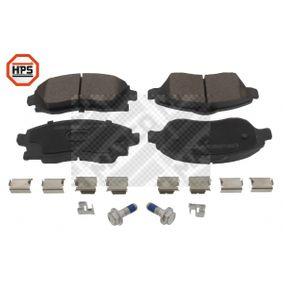Bremsbelagsatz, Scheibenbremse Breite: 131,5mm, Höhe 1: 52,3mm, Höhe 2: 55,4mm, Dicke/Stärke: 17mm mit OEM-Nummer 16 05 092