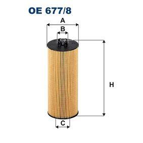 Ölfilter Innendurchmesser 2: 21mm, Innendurchmesser 2: 25mm, Höhe: 147mm mit OEM-Nummer A278 180 00 09