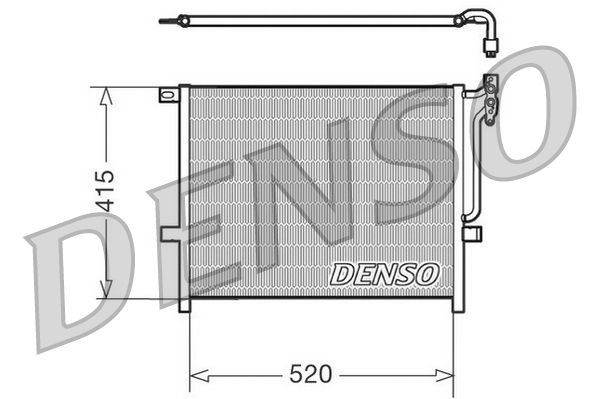 DENSO  DCN05010 Kondensator, Klimaanlage Netzmaße: 520x415x16, Kältemittel: R 134a