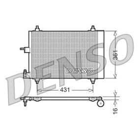 Kondensator, Klimaanlage Netzmaße: 568x361x16, Kältemittel: R 134a mit OEM-Nummer 6455AT