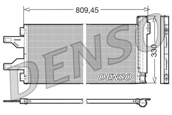 DENSO  DCN07050 Kondensator, Klimaanlage Netzmaße: 809.45x330x16, Kältemittel: R 134a