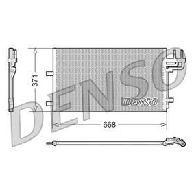 Kondensator, Klimaanlage Netzmaße: 668x371, Kältemittel: R 134a mit OEM-Nummer 1335552