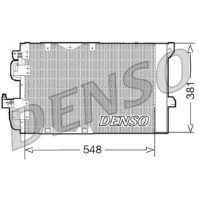 Kondensator, Klimaanlage Netzmaße: 548x381x16, Kältemittel: R 134a mit OEM-Nummer 18 50 074