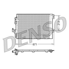 Kondensator, Klimaanlage Netzmaße: 671x214x16, Kältemittel: R 134a mit OEM-Nummer 93178958