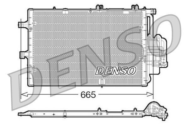 DENSO  DCN20017 Kondensator, Klimaanlage Netzmaße: 665x381x16, Kältemittel: R 134a