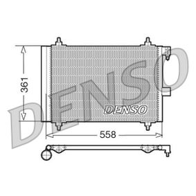 Kondensator, Klimaanlage Netzmaße: 558x361x16, Kältemittel: R 134a mit OEM-Nummer 6455CP