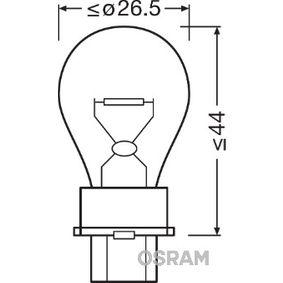 Bulb, indicator P27W, W2,5x16d, 12V, 27W 3156