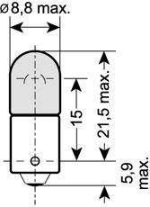 Bulb, interior light 3886X OSRAM 3886X original quality
