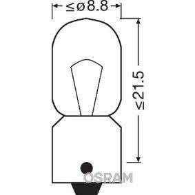 Bulb, indicator T4W, BA9s, 24V, 4W 3930