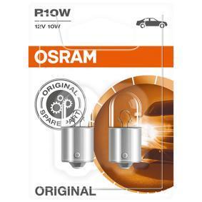 OSRAM Glühlampe, Bremsleuchte 5008-02B für AUDI 90 (89, 89Q, 8A, B3) 2.2 E quattro ab Baujahr 04.1987, 136 PS