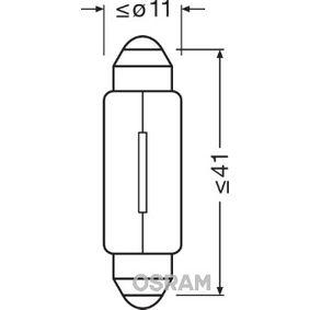 OSRAM Glühlampe, Kennzeichenleuchte 6411 für AUDI 100 (44, 44Q, C3) 1.8 ab Baujahr 02.1986, 88 PS