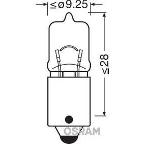 Bulb, indicator H6W, BAX9s, 12V, 6W 64132