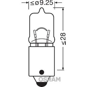 Bulb, indicator H6W, BAX9s, 12V, 6W 64132ULT-02B BMW 3 Series, 5 Series, 1 Series