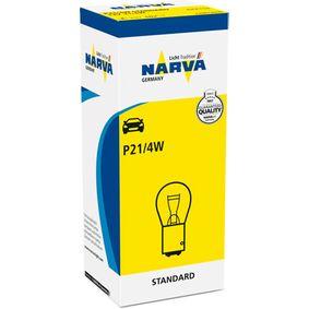 Bulb, brake / tail light P21/4W, 12V 21/4W, BAZ15d 178813000 FORD FOCUS, MONDEO, KA