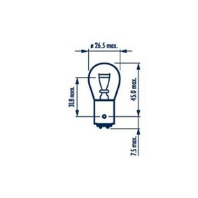 Bulb, brake / tail light P21/4W, 12V, BAZ15d, 21/4W 178814000 FORD FOCUS, MONDEO, KA