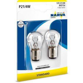 Bulb, brake / tail light P21/4W, 12V 21/4W, BAZ15d 178814000 FORD FOCUS, MONDEO, KA