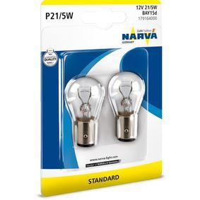 Glühlampe, Blinkleuchte P21/5W, BAY15d, 12V, 21/5W 179164000 VW GOLF, PASSAT, POLO