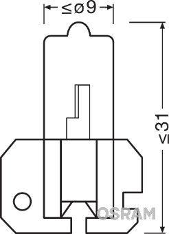 Glühlampe, Hauptscheinwerfer 64175 OSRAM H2 in Original Qualität