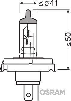 Bulb, spotlight 64183-01B OSRAM R2 original quality