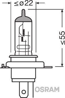 Glühlampe, Hauptscheinwerfer 64185 OSRAM HS1 in Original Qualität