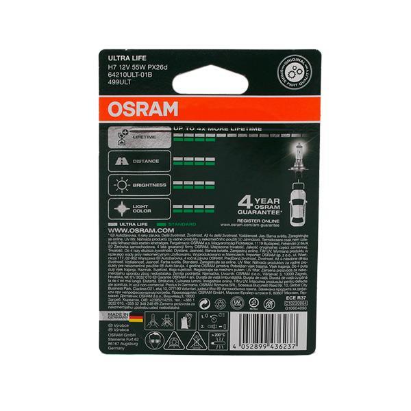 Glühlampe, Fernscheinwerfer OSRAM 64210ULT-01B Erfahrung