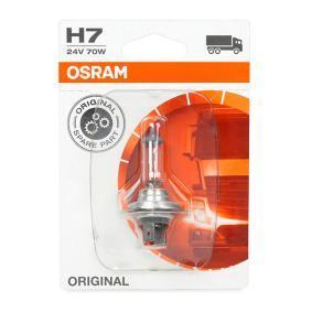 Крушка с нагреваема жичка, фар за дълги светлини H7, 70ват, 24волт 64215-01B