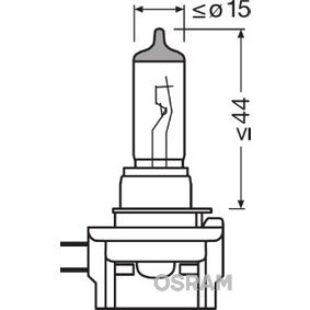 Bulb, spotlight H11B, 55W, 12V 64241 HYUNDAI SANTA FE, ELANTRA, SONATA