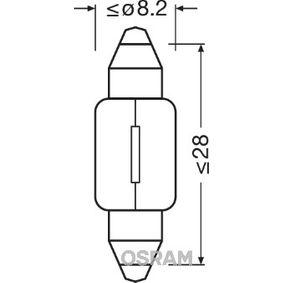 Innenraumbeleuchtung VW PASSAT Variant (3B6) 1.9 TDI 130 PS ab 11.2000 OSRAM Glühlampe, Innenraumleuchte (6428) für