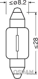 Bulb, interior light 6428 OSRAM 6428 original quality