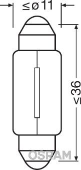 OSRAM ORIGINAL 6461 Glühlampe