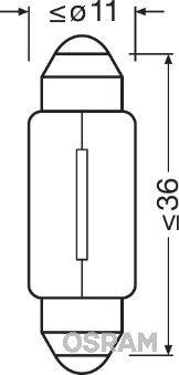OSRAM ORIGINAL 6461 Lampadina