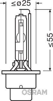 Glühlampe, Fernscheinwerfer 66250CBI OSRAM D2R in Original Qualität