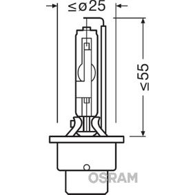 Bulb, spotlight D2R (gas discharge tube), 35W, 85V 66250CBI MERCEDES-BENZ C-Class, E-Class, S-Class