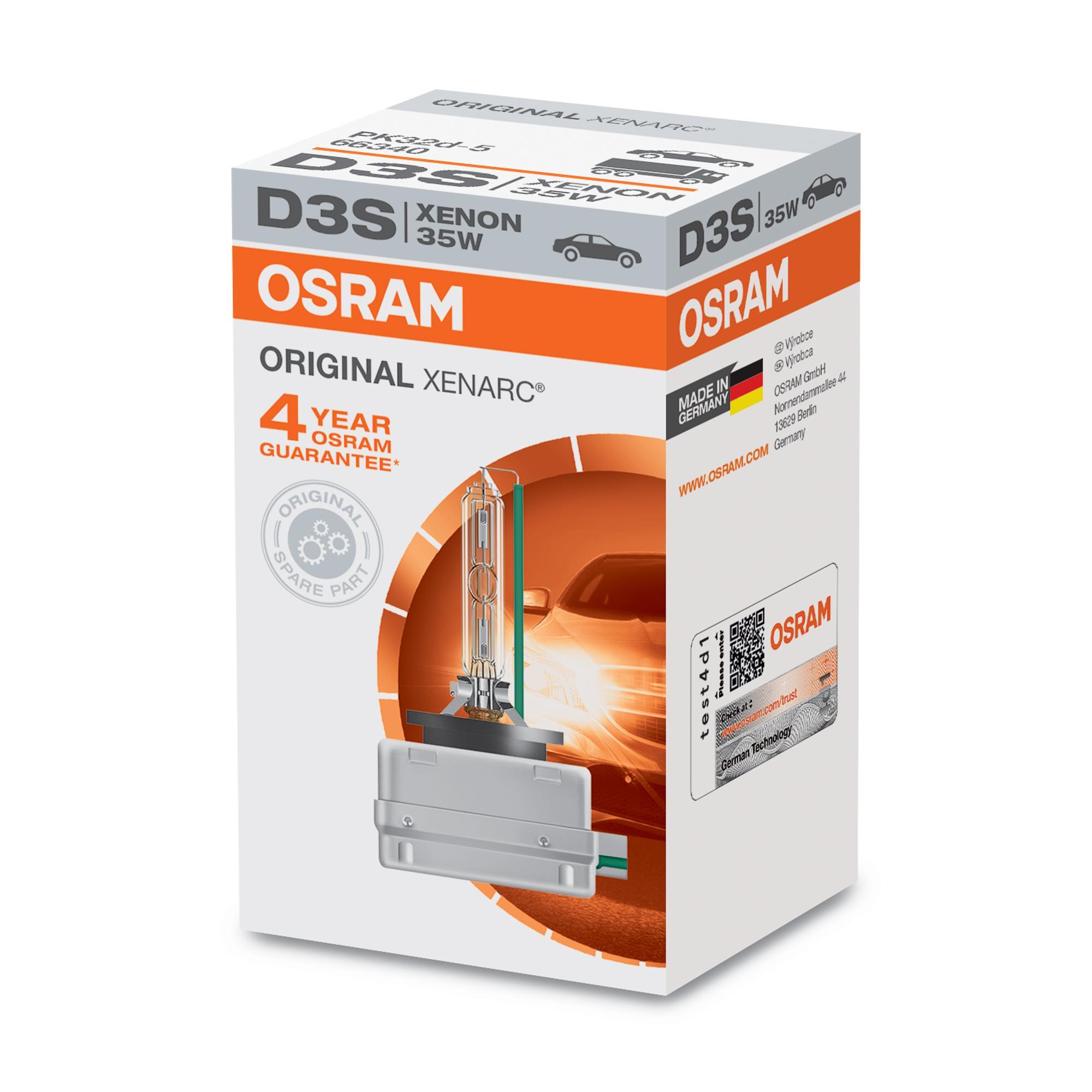 Gloeilamp, verstraler 66340 OSRAM D3S van originele kwaliteit