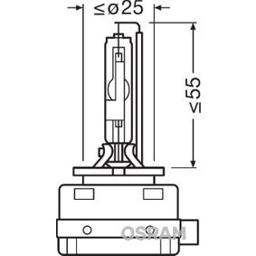 Glühlampe, Fernscheinwerfer D3R, 35W, 42V 66350