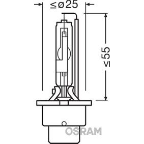 Крушка с нагреваема жичка, фар за дълги светлини D4R, 35ват, 42волт 66450