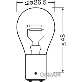 Glühlampe, Brems- / Schlusslicht P21/4W, 12V, BAZ15d, 21/4W 7225-02B VW GOLF, PASSAT, POLO
