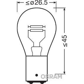 Bulb, brake / tail light P21/4W, 12V 21/4W, BAZ15d 7225-02B FORD FOCUS, MONDEO, KA