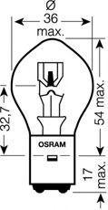 OSRAM  7326 Izzó, távfényszóró