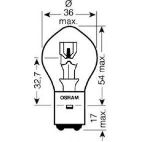 Bulb, spotlight S2 12V 45 / 40W BA20d 7351