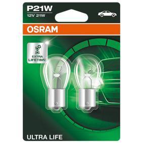 Glühlampe, Blinkleuchte P21W, BA15s, 12V, 21W 7506ULT-02B